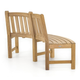Teak Tree Hugger Bench (1 section)