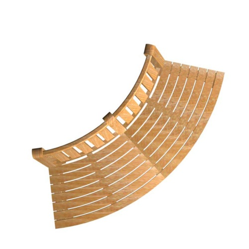 teak outdoor bench curved