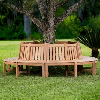 Buckingham Teak Tree Hugger Bench