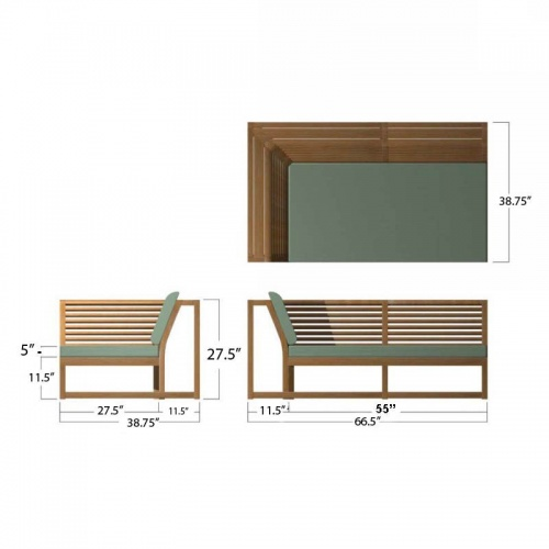 Maya Sofa Right Side Frame - Picture K