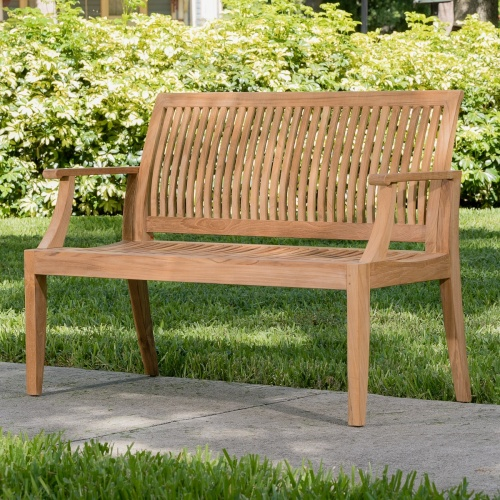 Laguna Teak Wood Bench 4 ft - Commercial Grade - Picture A