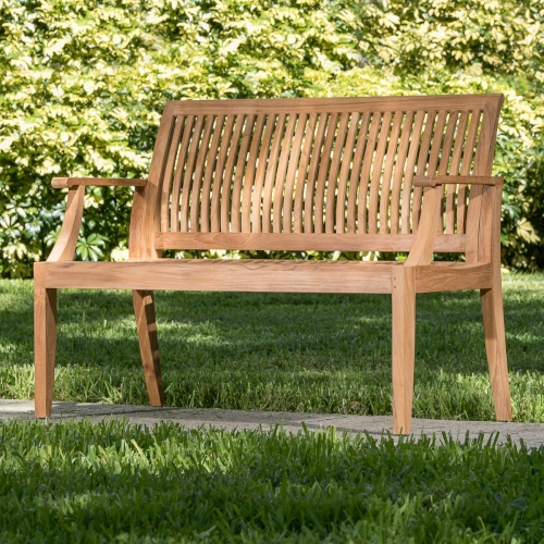 Laguna Teak Wood Bench 4 ft - Commercial Grade - Picture C