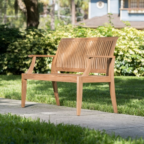 Laguna Teak Wood Bench 4 ft - Commercial Grade - Picture D