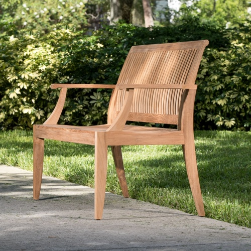 Laguna Teak Wood Bench 4 ft - Commercial Grade - Picture E