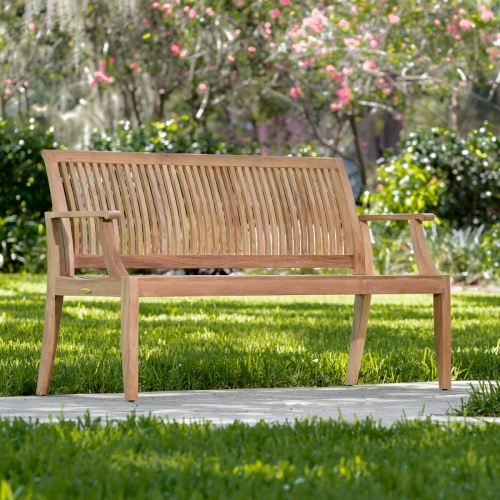 patio furniture teak benches