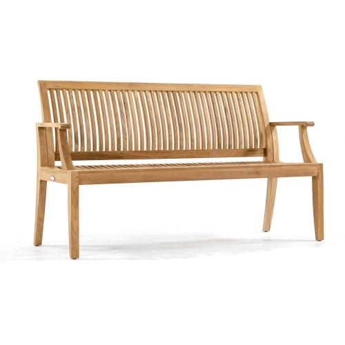 outdoor teak wood benches