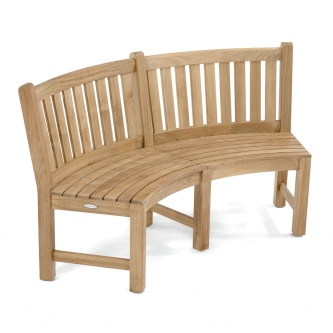 Pleasing Teak Round Curved Outdoor Garden Benches Westminster Evergreenethics Interior Chair Design Evergreenethicsorg