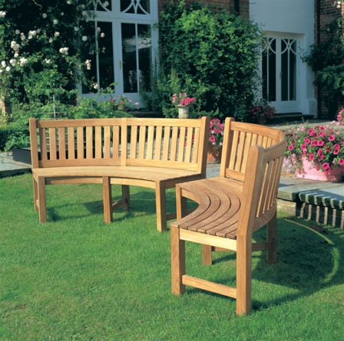 Buckingham Teak Curved Bench Clearance Sale - Picture C