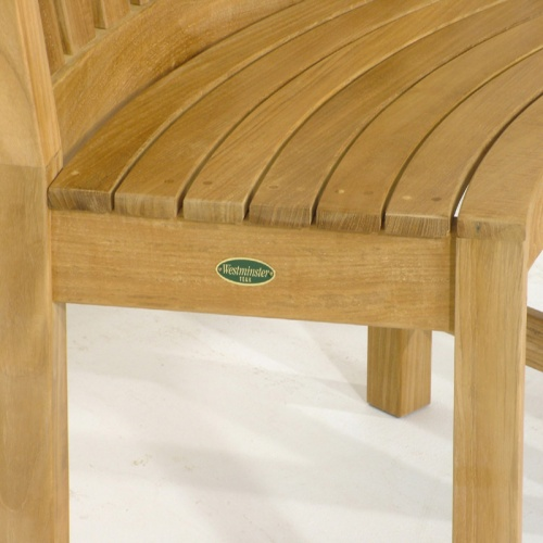 Buckingham Teak Curved Bench Clearance Sale - Picture F