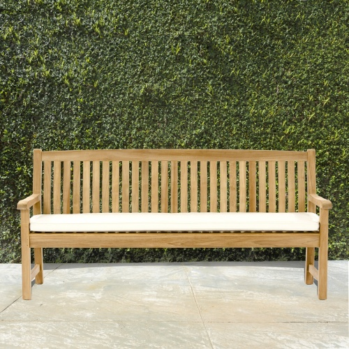 back support benches teak