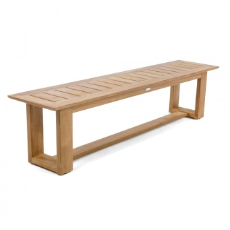 6 ft Horizon Teak Backless Bench