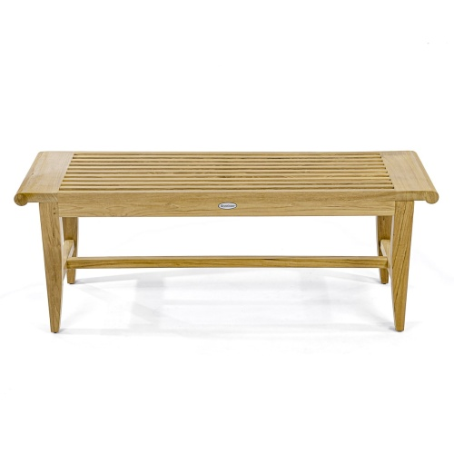 4 ft Laguna Teak Backless Bench - Picture K