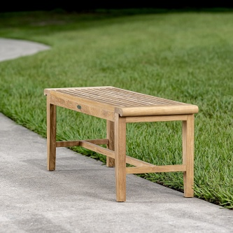 4 ft Laguna Teak Backless Bench