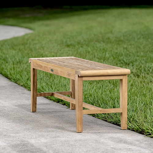 4 foot Backless Bench - Picture A