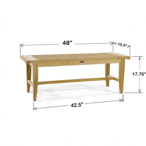 4 foot Backless Bench - Picture M