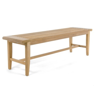 5 ft Laguna Teak Backless Bench