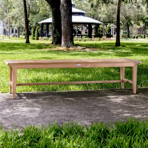 teak wood backless benches