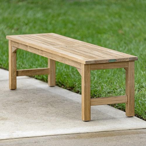 teak backless shower benches