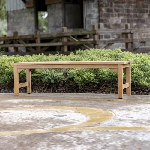 teak bench outdoor