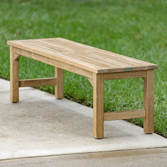 5 ft Teak Backless Bench