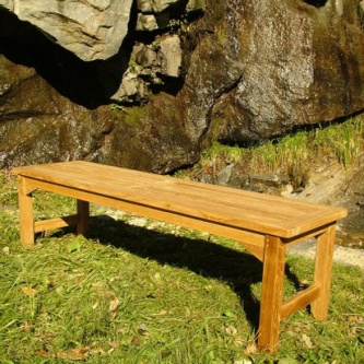 Refurbished 5 ft Teak Backless Bench