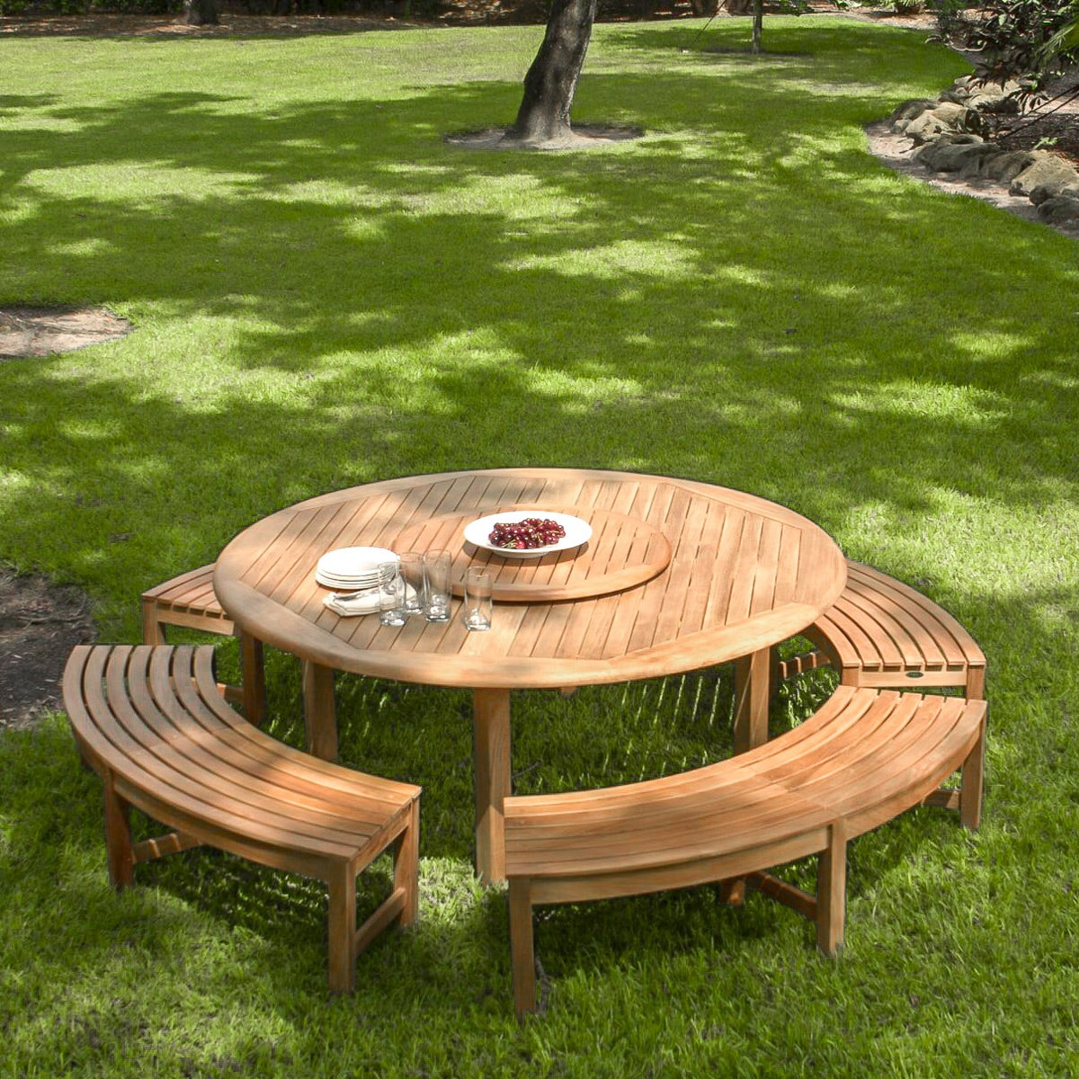 Teak Garden Benches Round Curved Westminster Teak Furniture