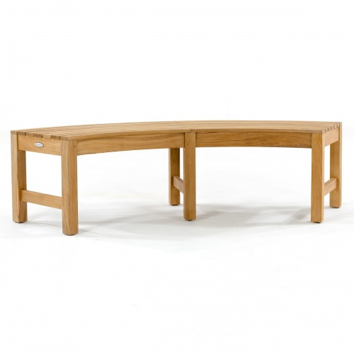 Buckingham Rounded Teak Backless Bench - Picture M