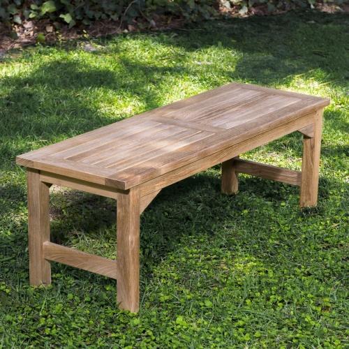 teak spa benches
