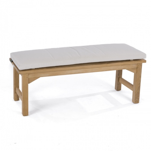 4 ft Backless Teak Bench - Picture K