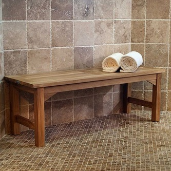 10 off - Teak Shower Bench