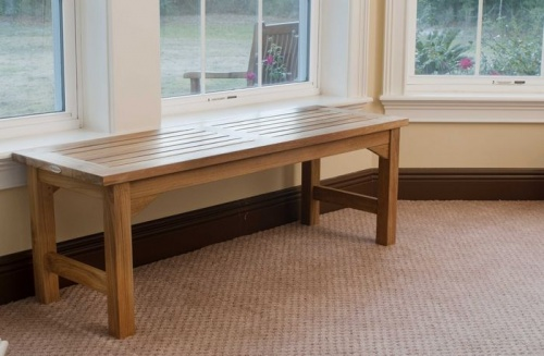 Waterproof Teak Backless Bench 4FT Refurbished - Picture B