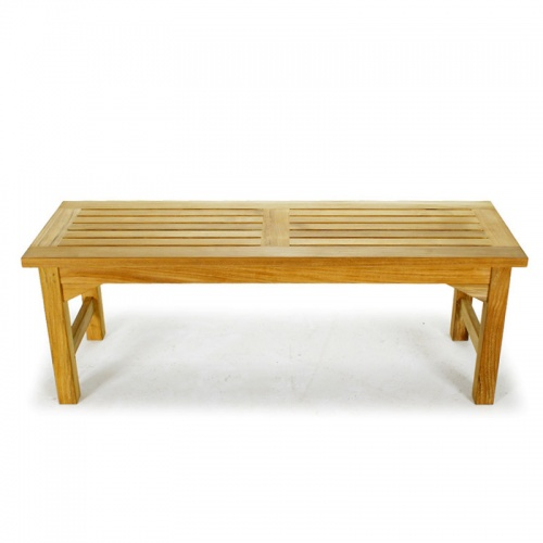 Waterproof Teak Backless Bench 4FT Refurbished - Picture D