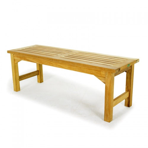 Waterproof Teak Backless Bench 4FT Refurbished - Picture E