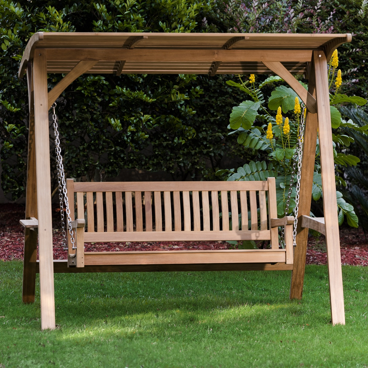 Veranda Swinging Bench With Canopy Westminster Teak
