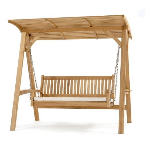 teak bench swings