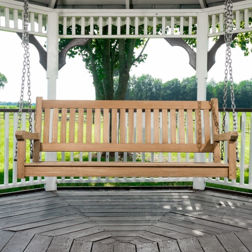 The Westminster Teak 5 Ft Porch Swing ...
