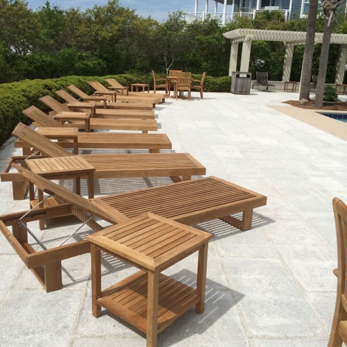 square teak wood side tables