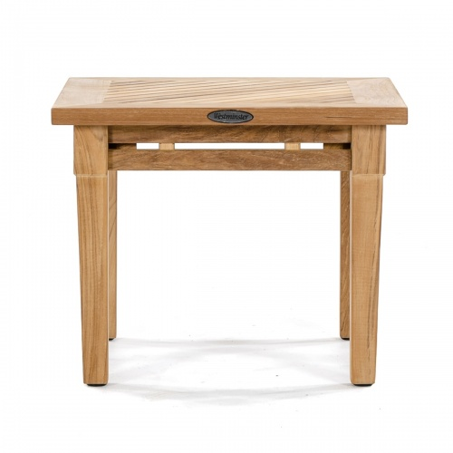 20 inch teak end tables