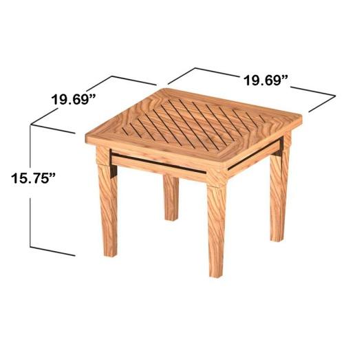 small square teak tables