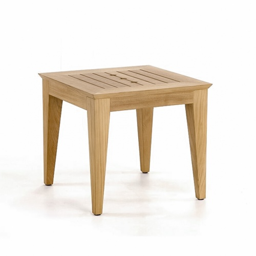 Craftsman Teak Outdoor Side Table - Picture A