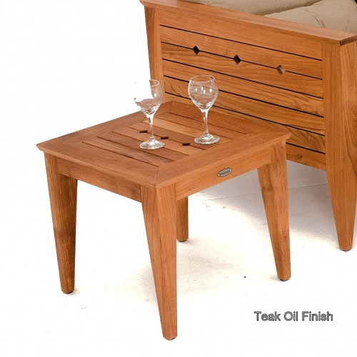 Craftsman Teak Outdoor Side Table - Picture G