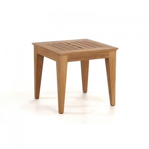 square teak side tables