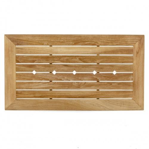 4 ft teak rectangular tables