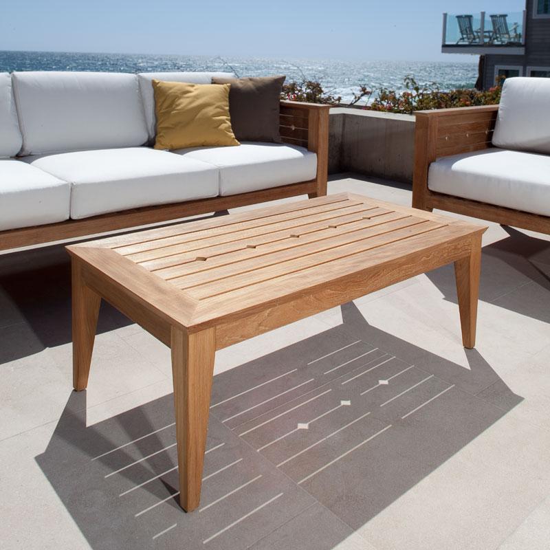 Craftsman teak outdoor sofa table westminster teak for 4ft sofa table