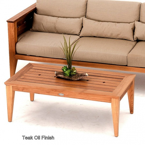 Craftsman Teak Outdoor Sofa Table - Picture F