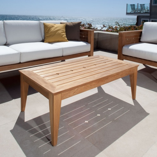 rectangular teak coffee tables
