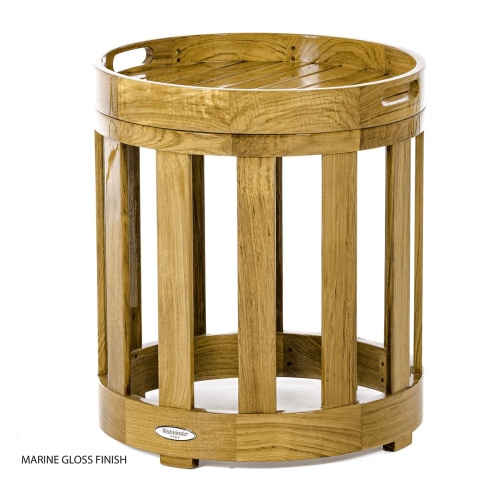 premium teak end tables