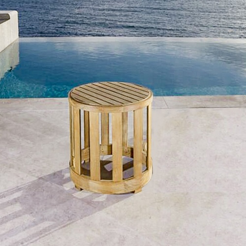 Kafelonia Teak Side Table  - Picture A