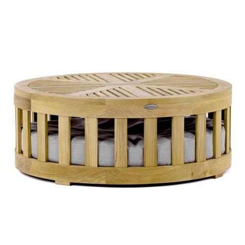 Kafelonia Round Teak Coffee Table - Picture E