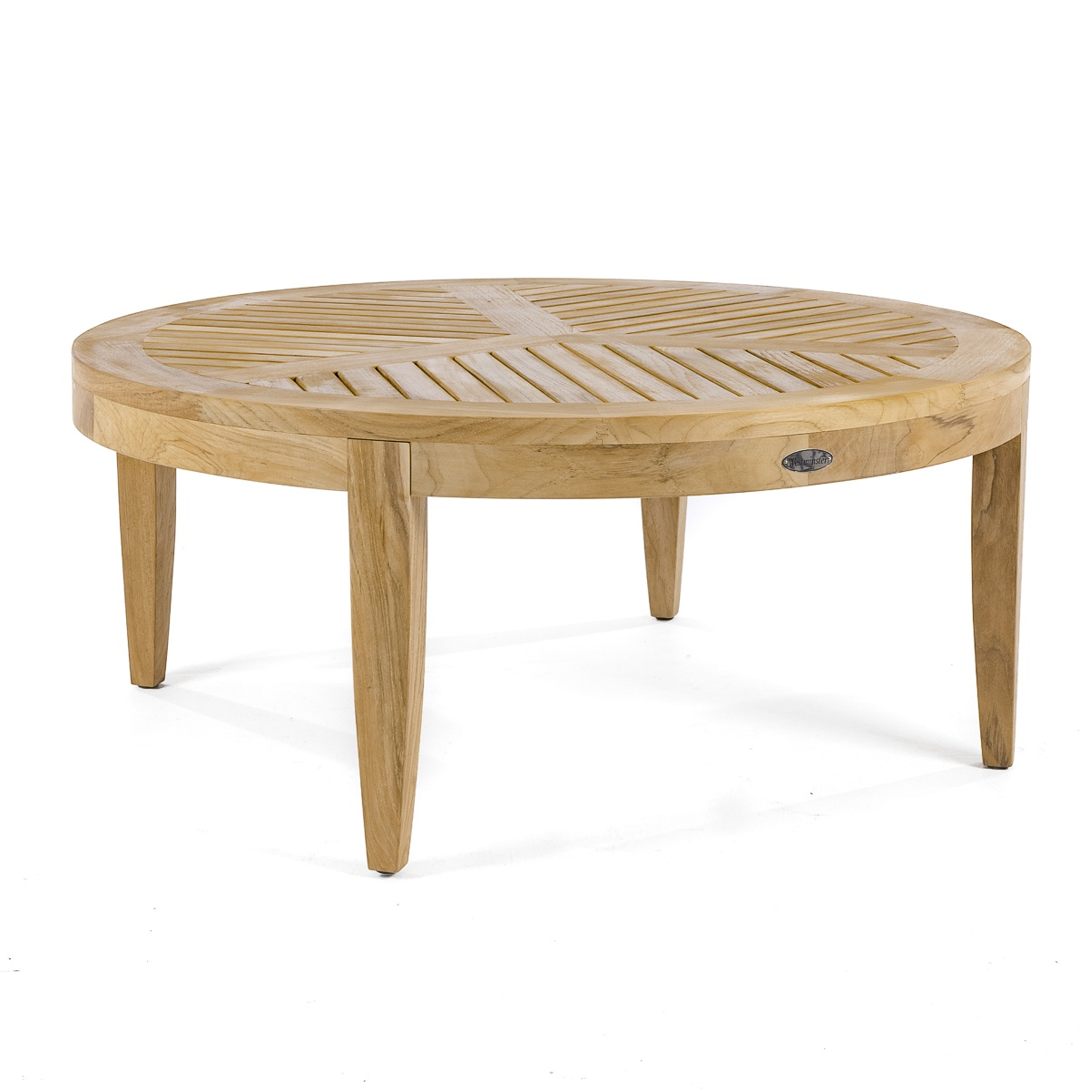 Laguna teak round coffee and sofa table westminster teak for Round coffee table with sectional sofa